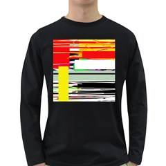 Lines and squares  Long Sleeve Dark T-Shirts