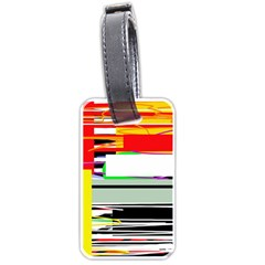 Lines and squares  Luggage Tags (One Side)
