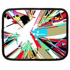 Colorful Big bang Netbook Case (Large)