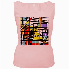 Casual abstraction Women s Pink Tank Top