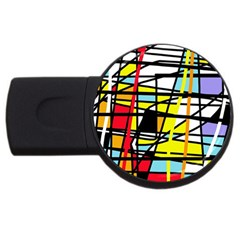 Casual abstraction USB Flash Drive Round (2 GB)