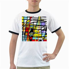 Casual abstraction Ringer T-Shirts
