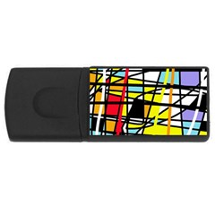 Casual Abstraction Usb Flash Drive Rectangular (4 Gb)