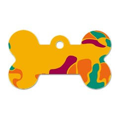 Colorful creativity Dog Tag Bone (One Side)