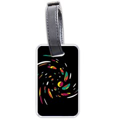 Colorful twist Luggage Tags (One Side)