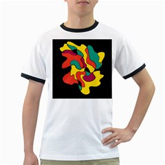 Colorful spot Ringer T-Shirts