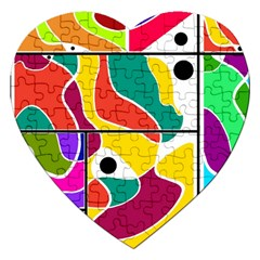 Colorful Windows  Jigsaw Puzzle (heart)