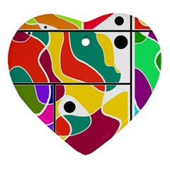 Colorful windows  Heart Ornament (2 Sides)