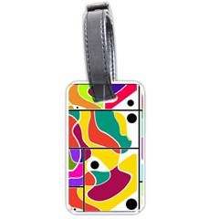 Colorful windows  Luggage Tags (One Side)