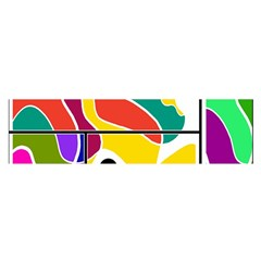 Colorful windows  Satin Scarf (Oblong)