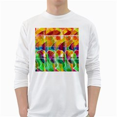 Abstract sunrise White Long Sleeve T-Shirts