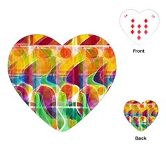 Abstract sunrise Playing Cards (Heart)