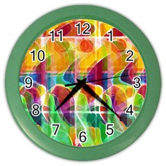 Abstract sunrise Color Wall Clocks