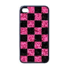 SQR1 BK-PK MARBLE Apple iPhone 4 Case (Black)