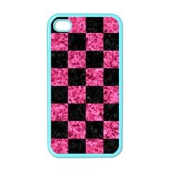 SQR1 BK-PK MARBLE Apple iPhone 4 Case (Color)