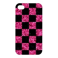SQR1 BK-PK MARBLE Apple iPhone 4/4S Hardshell Case
