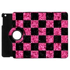 Square1 Black Marble & Pink Marble Apple Ipad Mini Flip 360 Case