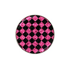 Square2 Black Marble & Pink Marble Hat Clip Ball Marker (4 Pack)