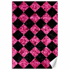 Square2 Black Marble & Pink Marble Canvas 20  X 30