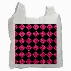 SQR2 BK-PK MARBLE Recycle Bag (Two Side)