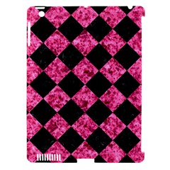 SQR2 BK-PK MARBLE Apple iPad 3/4 Hardshell Case (Compatible with Smart Cover)