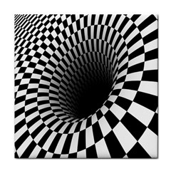 Optical Illusions Tile Coasters