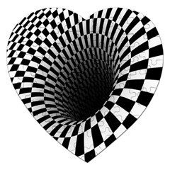Optical Illusions Jigsaw Puzzle (Heart)