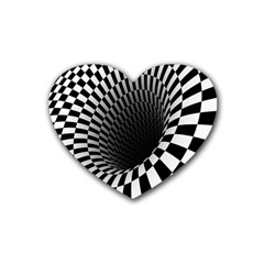 Optical Illusions Heart Coaster (4 pack)