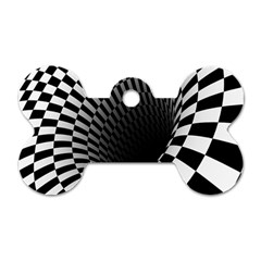 Optical Illusions Dog Tag Bone (Two Sides)