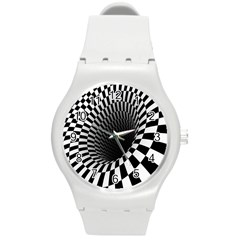 Optical Illusions Round Plastic Sport Watch (M)