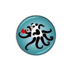 Panda Octopus Fish Blue Hat Clip Ball Marker