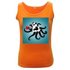 Panda Octopus Fish Blue Women s Dark Tank Top
