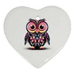 Owl Colorful Ornament (Heart)