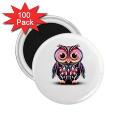 Owl Colorful 2.25  Magnets (100 pack)