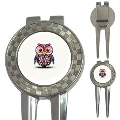 Owl Colorful 3-in-1 Golf Divots