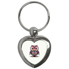 Owl Colorful Key Chains (Heart)