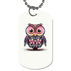 Owl Colorful Dog Tag (Two Sides)