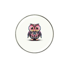 Owl Colorful Hat Clip Ball Marker (10 pack)