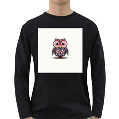 Owl Colorful Long Sleeve Dark T-Shirts