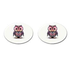 Owl Colorful Cufflinks (Oval)