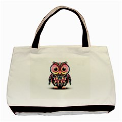 Owl Colorful Basic Tote Bag (Two Sides)
