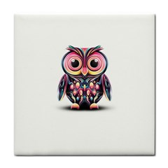 Owl Colorful Face Towel