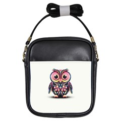 Owl Colorful Girls Sling Bags