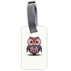 Owl Colorful Luggage Tags (Two Sides)
