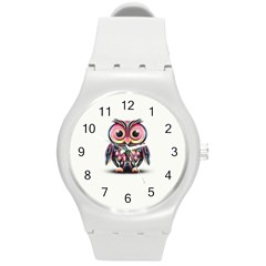 Owl Colorful Round Plastic Sport Watch (M)