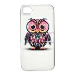 Owl Colorful Apple iPhone 4/4S Hardshell Case with Stand
