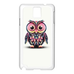 Owl Colorful Samsung Galaxy Note 3 N9005 Case (White)