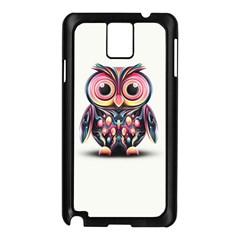 Owl Colorful Samsung Galaxy Note 3 N9005 Case (Black)