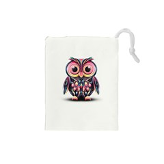 Owl Colorful Drawstring Pouches (Small)