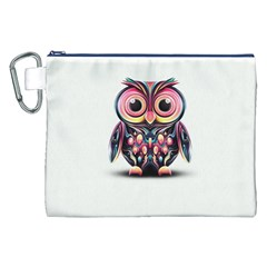 Owl Colorful Canvas Cosmetic Bag (XXL)